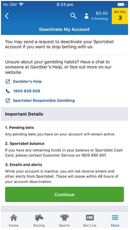 How do I close my account? – Sportsbet Help Centre